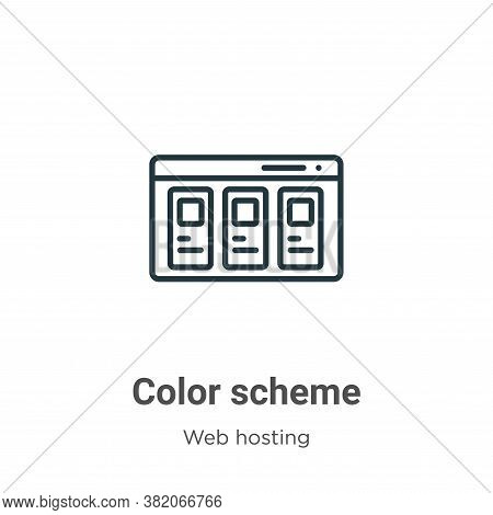 Color scheme icon isolated on white background from web hosting collection. Color scheme icon trendy