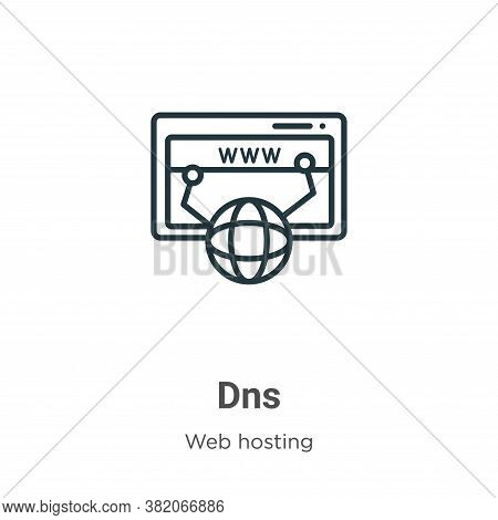 Dns icon isolated on white background from web hosting collection. Dns icon trendy and modern Dns sy