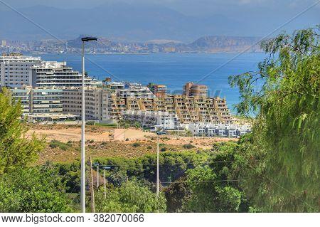 Urbanization In Arenales Del Sol Beach In Alicante In Summer