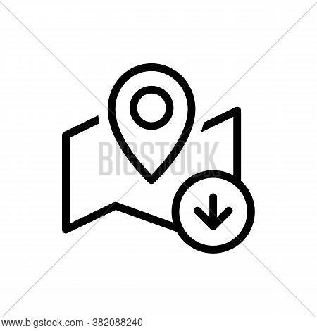 Map Pin Download Icon. Offline Maps Navigator. Vector Eps 10