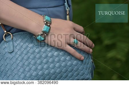 Turquoise Bangle Blue In The Arms Of The Girl