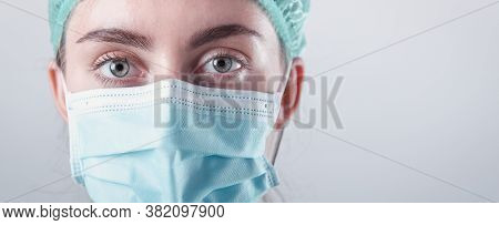 Medical Surgical Doctor And Health Care, Portrait Of Surgeon Doctor In Ppe Equipment On Isolated Bac