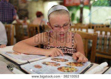 Girl Choosing Dish