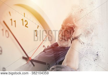 Elder Time Countdown To Alzheimer And Dementia Disease Loss Their Mild Memory And Family Life Concep