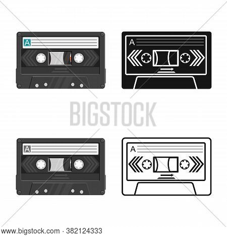 Isolated Object Of Cassette And Tape Icon. Graphic Of Cassette And Reel Stock Vector Illustration.