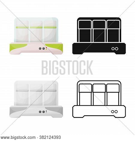 Vector Design Of Yogurt And Machine Sign. Web Element Of Yogurt And Appliance Vector Icon For Stock.