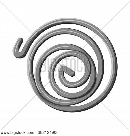 Vector Illustration Of Coil And Detail Sign. Web Element Of Coil And Metal Vector Icon For Stock.