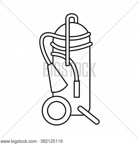 Vector Illustration Of Extinguisher And Extinguish Icon. Collection Of Extinguisher And Red Vector I