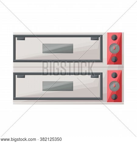 Vector Illustration Of Oven And Kitchenware Icon. Web Element Of Oven And Appliances Stock Symbol Fo