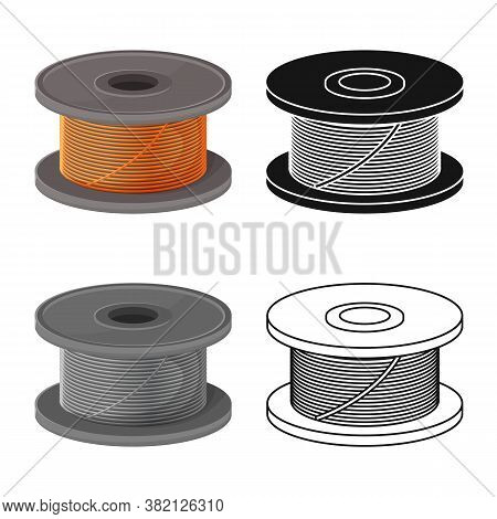 Vector Illustration Of Coil And Spiral Symbol. Graphic Of Coil And Metal Vector Icon For Stock.