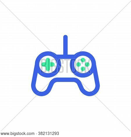 Gamepad Controller Line Icon. Linear Style Sign For Mobile Concept And Web Design. Game Controller O