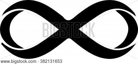 Infinity Sign On White Background Template, Unlimited, Vector, Web