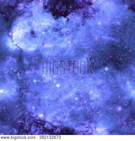 Galaxy Pattern Repeated Design. Violet Abstract Background. Galaxy Pattern For Wrapping Paper, Fabri