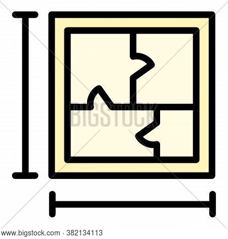 Apartment Plan Icon. Outline Apartment Plan Vector Icon For Web Design Isolated On White Background