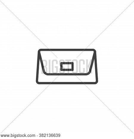 Purse Handbag Line Icon. Linear Style Sign For Mobile Concept And Web Design. Women Handbag Outline