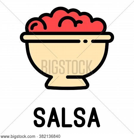 Salsa Food Icon. Outline Salsa Food Vector Icon For Web Design Isolated On White Background