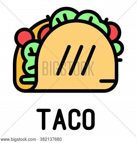 Taco Icon. Outline Taco Vector Icon For Web Design Isolated On White Background