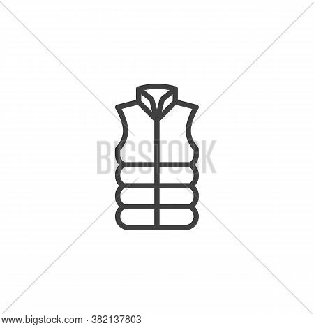 Vest Jacket Line Icon. Linear Style Sign For Mobile Concept And Web Design. Sleeveless Vest Outline
