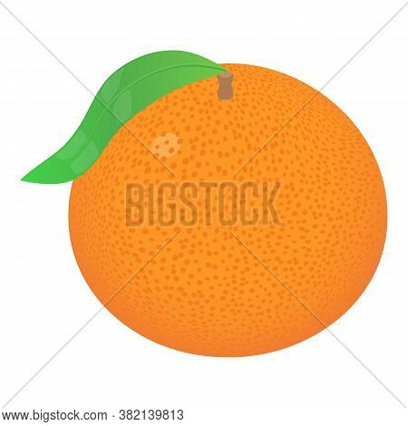 Whole Grapefruit Icon. Isometric Of Whole Grapefruit Vector Icon For Web Design Isolated On White Ba