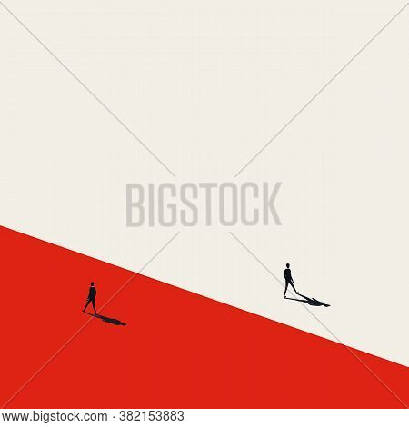 Business Dispute Or Disagreement Vector Concept With Two Businessman Walking Away From Each Other.
