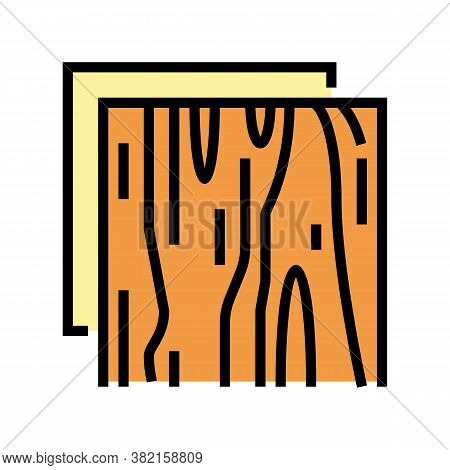 Wooden Insulation Layer Color Icon Vector. Wooden Insulation Layer Sign. Isolated Symbol Illustratio