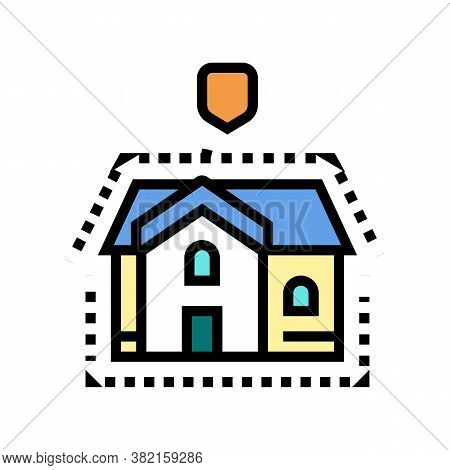 House Insulation Color Icon Vector. House Insulation Sign. Isolated Symbol Illustration