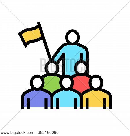 Employees Leadership Color Icon Vector. Employees Leadership Sign. Isolated Symbol Illustration