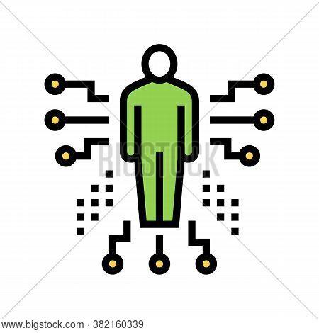 Human Characteristics Color Icon Vector. Human Characteristics Sign. Isolated Symbol Illustration