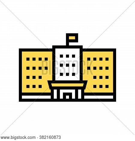 Government Building Color Icon Vector. Government Building Sign. Isolated Symbol Illustration