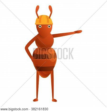 Ant Manager Icon. Cartoon Of Ant Manager Vector Icon For Web Design Isolated On White Background