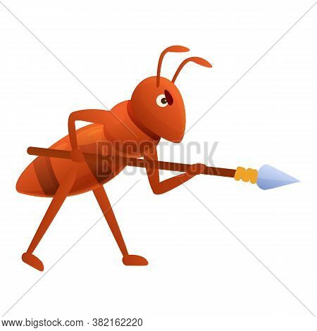 Ant Warrior Icon. Cartoon Of Ant Warrior Vector Icon For Web Design Isolated On White Background