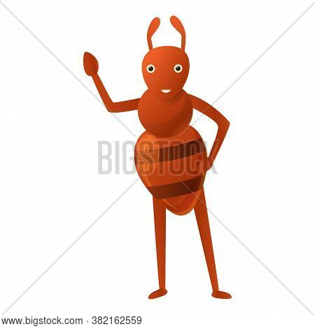 Ant Kid Icon. Cartoon Of Ant Kid Vector Icon For Web Design Isolated On White Background
