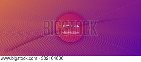 Abstract Fluid Background. 3d Geometric Liquid. Flow Shapes Pattern. Orange Abstract Fluid Backgroun