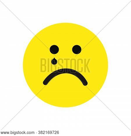 Sad Icon Isolated On White Background. Sad Face Icon In Trendy Design Style. Sad Vector Icon Modern