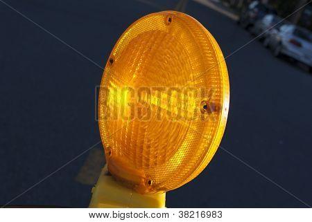 Macro Of Traffic Barrier Lamp