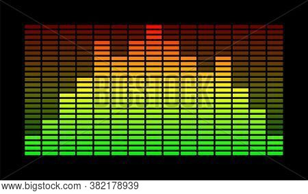 Sound Equalizer Music. Vector Isolated Illustration. Soundwave Vector Abstract Background. Stock Vec