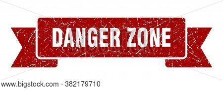 Danger Zone Grunge Vintage Retro Band. Danger Zone Ribbon