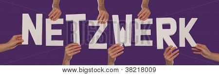 White Alphabet Lettering Spelling Netzwerk