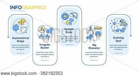 Melanoma Abcde Symptoms Vector Infographic Template. Evolving Spot. Presentation Design Elements. Da
