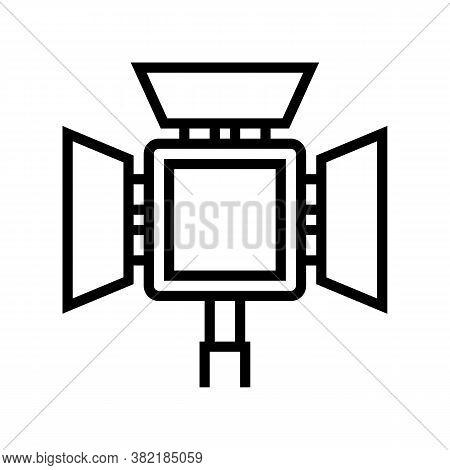 Lightbox Photography Equipment Line Icon Vector. Lightbox Photography Equipment Sign. Isolated Conto
