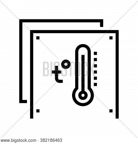 Temperature Preserving Layer Line Icon Vector. Temperature Preserving Layer Sign. Isolated Contour S