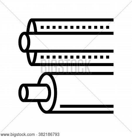 Insulation Material Roll Line Icon Vector. Insulation Material Roll Sign. Isolated Contour Symbol Bl