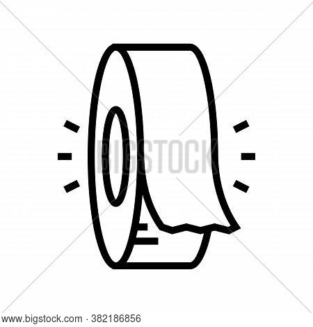 Insulation Roll Line Icon Vector. Insulation Roll Sign. Isolated Contour Symbol Black Illustration