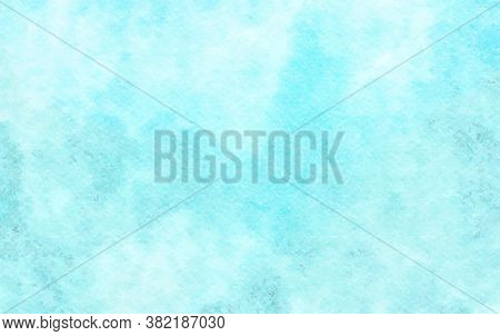 Watercolor Blue Pastel Background. Eps10 Backdrop With Aquarelle Effect. Vector Illustration