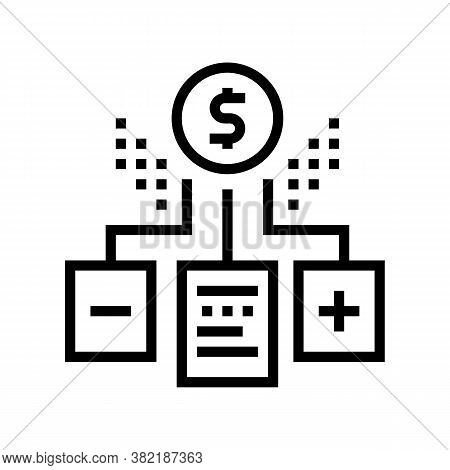Financial Agreement Advantages And Disadvantages Line Icon Vector. Financial Agreement Advantages An