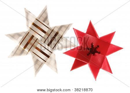 Two Origami Christmas Stars