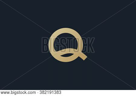 Q . Q logo . Q design . Q icon . simple Q logo. Q images . Q vector . Q template . Letter Q design . vector illustration . clean and modern logo with gold color