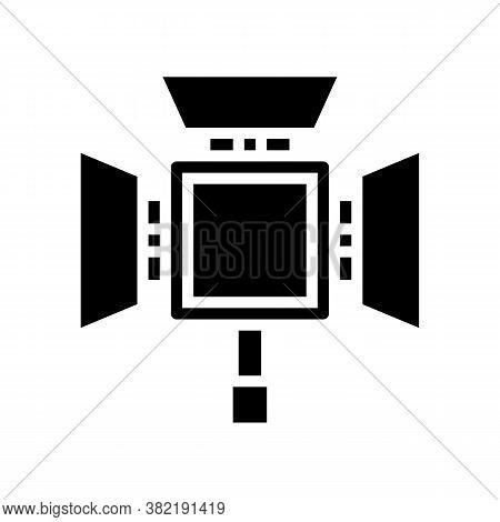 Lightbox Photography Equipment Glyph Icon Vector. Lightbox Photography Equipment Sign. Isolated Cont