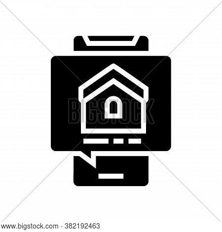 Mobile Phone House Buy Correspondence Glyph Icon Vector. Mobile Phone House Buy Correspondence Sign.