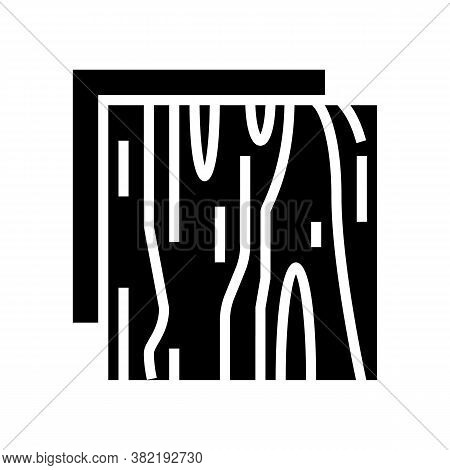 Wooden Insulation Layer Glyph Icon Vector. Wooden Insulation Layer Sign. Isolated Contour Symbol Bla